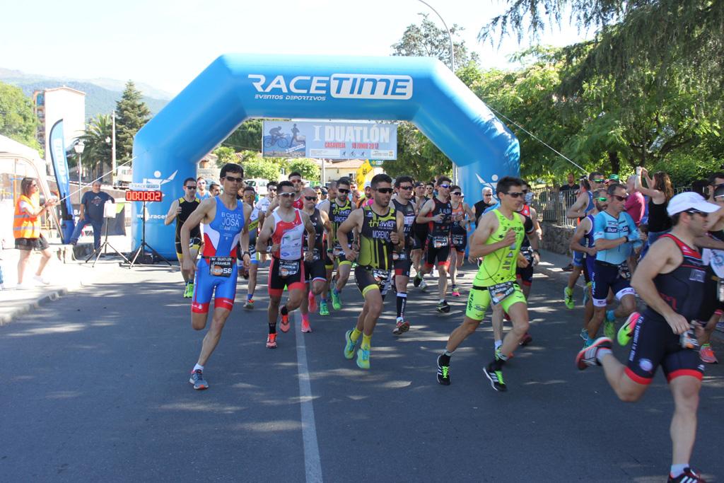 Martín Berlanas consigue la victoria en el Duatlón de Casavieja