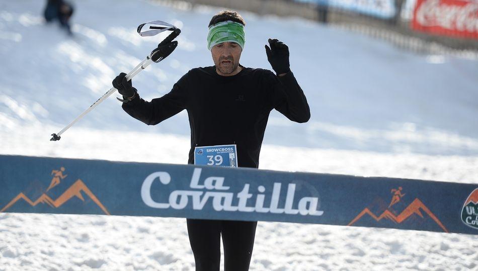 Miguel Heras y Nuria Domínguez se imponen el en estreno del Snowcross La Covatilla