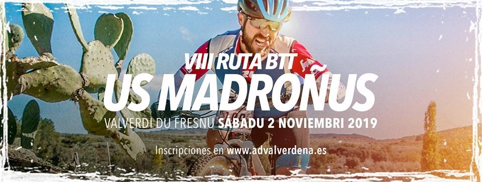 El 2 de Noviembre de celebra la VIII Ruta BTT Us Madroñus