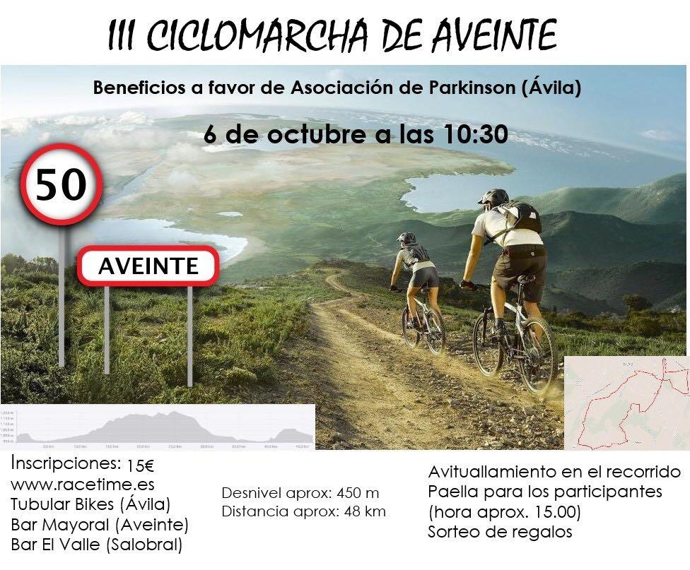 Aveinte celebra su III Ciclomarcha este sábado día 6