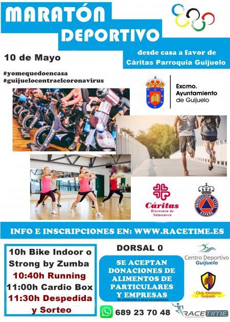 Maratón Deportivo desde casa a favor de Cáritas Guijuelo