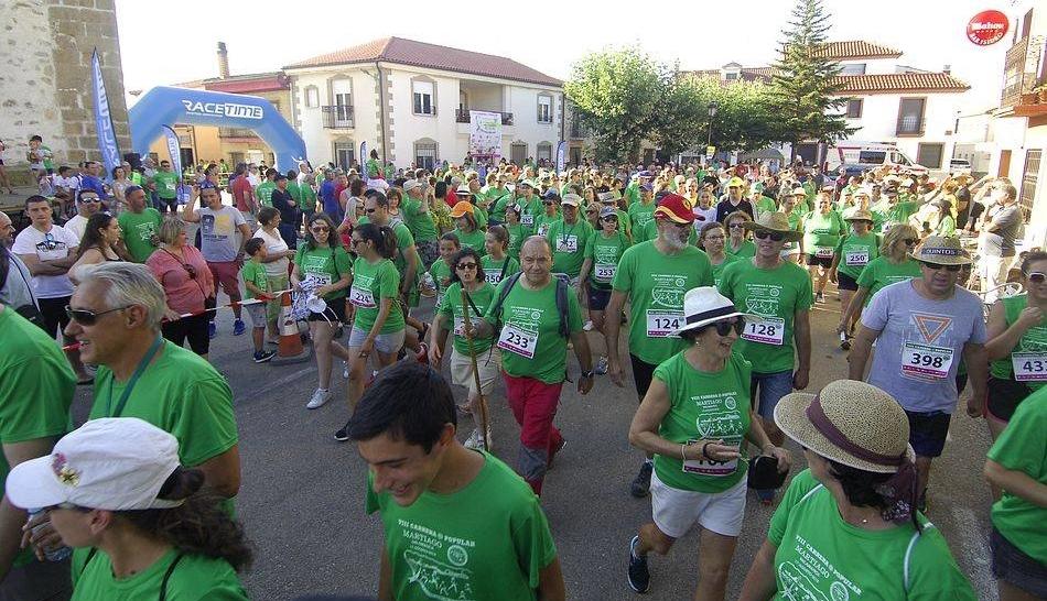 Una marea verde tiñe Martiago en la 8ª Carrera Popular de la localidad